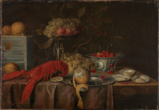 Stilleben. Ukjent hollandsk kunstner.  Antagelig 1600-tallet