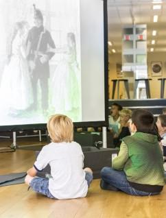 Presentasjon av Kittelsens og Werenskiolds eventyrillustrasjoner. Foto: Nasjonalmuseet