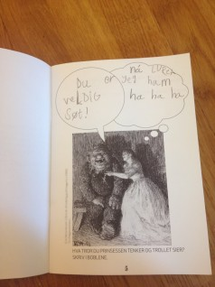 Fra tegne- og skrivehefte. Foto: Nasjonalmuseet