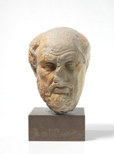 Gresk filosof, skulptur. Foto: Børre Høstland, Nasjonalmuseet