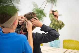Workshop med elever fra Tåsen skole. Foto: Nasjonalmuseet/Frode Larsen